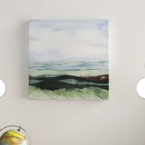 """Wrapped Canvas Painting on Canvas 12""""x 12""""x 1.25"""""""